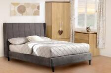 Amelia 4ft 6 Double Bed in Dark Grey Fabric - Free Delivery