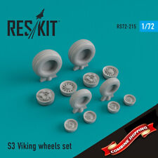 ResKit 72-0215 S-3 Viking wheels set (resin wheels) 1/72