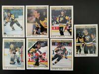 1991-92 O-Pee-Chee Premier Pittsburgh Penguins set Lot 7 w/ Jagr Lemieux Coffey