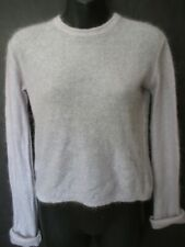AGNES B Paris lavender mohair long sleeve pullover sweater Size Small