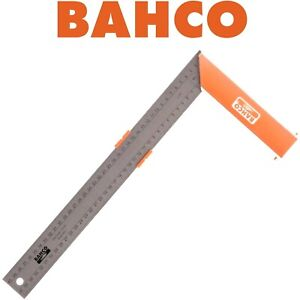 """BAHCO Carpenters Try Square 16"""" 400mm Aluminium With Stainless Rule 9048-400"""
