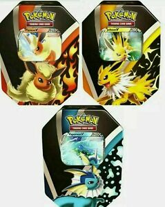 Pokemon TCG Eevee Evolutions Tin Fall 2021 Set of 3 Tins SEALED