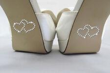 LOVE Heart Wedding SHOE / vetro cristallo Rhinestone ADESIVI, ARGENTO-confezione da 4