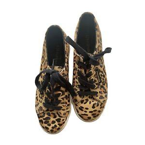 Superga Sneakers Platform Leopard Print White Black Gold Label 36 4.5 6 3.5 RARE