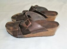 Papillio Birkenstock Dorothy  Womens 39 US 8 Wedge Sandals Shoes Toffee Brown