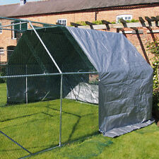 END COVER FOR CHICKEN RUN WALK IN COOP POULTRY DOG RABBIT HEN CAGE PEN METAL NEW
