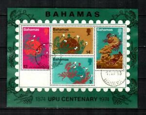 BAHAMAS Scott's 361a ( S/S ) Universal Postal Union F/VF Used ( 1974 )
