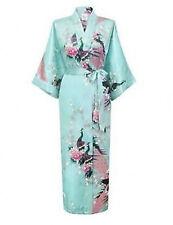 2016 Promotional Bride Long Women Kimono Robe satin silk Night dressing Gown