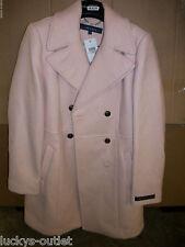Womens Cole Haan Pink Wool 3/4 Wool Pea Winter Dress Over Trench Coat Ladies 12