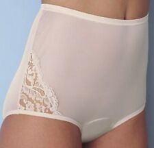 3 Vanity Fair Perfectly Yours Lace Nouveau Brief Panties Fawn 13001 Size 7