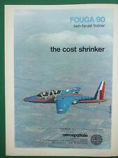 1979 PUB AEROSPATIALE AVION FOUGA 90 TWIN FANJET TRAINER TURBOMECA ASTAFAN AD