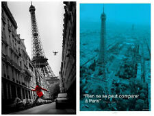 No place like Paris Eiffel Tower 2 Individual Posters Iconic Structure New!
