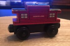 2000 Thomas The Train Wooden Railway Red Sodor Line Caboose Britt Allcroft
