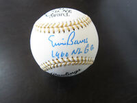 Ernie Banks Autograph Signed Gold Glove Baseball 1960 NL GG Chicago Cubs