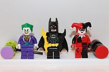 NEW LEGO THE LEGO BATMAN MOVIE Minifigs: JOKER BATMAN HARLEY QUINN Super Heroes