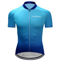 Bike Jersey Women Cycling Man Color Outdoor Sports Cycling Jerseys Blue V Collar