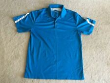 MENS size Medium NIKE GOLF royal blue & white golf polo shirt athletic dri-fit