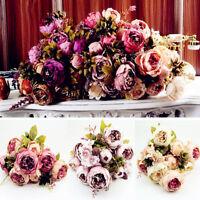 Artificial Silk Peony Bridal Flower Bouquet Home Wedding Party Home Craft Decor