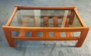 G Plan? Vintage Retro Mid Century Coffee Table Base only, no glass top wood