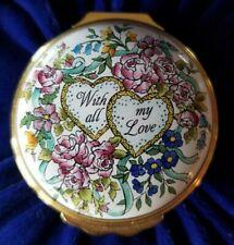Halcyon Days Enamel Box St. Valentine's Day 1995 w/orig box * Free Shipping *