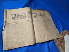 1896 German Language Allentown,PA Antique VTG Newspaper Welt Bote History VTG