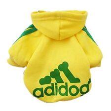 Adidog Dog Sweater-Hoodie Jacket Sizes Small yellow
