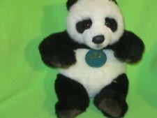 "K&M International Plush Panda Bear Stuffed Animal Toy 9"" Tall Sitting Tag HTF"