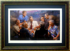 Framed Democrat presidents Playing Poker Art Print True Blues by Andy Thomas