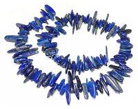 😏 Lapislazuli Perlen lange Splitter-Nuggets ca. 10 - 25 mm Lapis Strang 😉