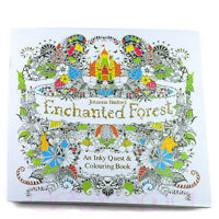 New An Inky Beautiful Forest Treasure Hunt and Coloring Book By Johanna Basford