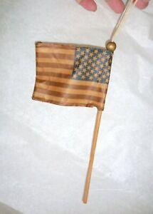 Folk Art American Flag Hanging Ornament Wired