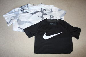 NIKE PRO DRIFIT COMPRESSION SHIRT LOT OF 2 TWO BOYS YOUTH XL 18-20+ YTHXL CAMO