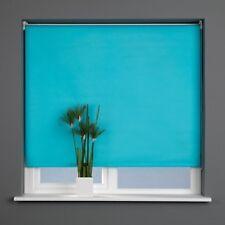 Sunlover Plain Straight Edge Roller Blind. AQUA BLUE. Turquoise 210cm width