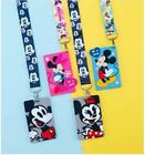 10 pcs Mickey Minnie Lanyard Card ID Holder With Hanging String Keychain