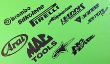 Decals for Tail Tidy Undertray belly pan race decal set of 11 Stickers ref #8