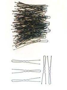 60 PCS 6 CM BLACK HAIR PINS BOB KIRBY WAVE CLIP SLIDE BALL TIP STYLING VA216B