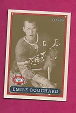 RARE 1992-93 OPC # 2 CANADIENS EMILE BOUCHARD  FANFEST LIMITED /5000 CARD