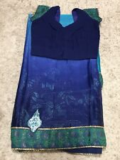 Bollywood Designer Saree  Navy Blue And Green Shaded.
