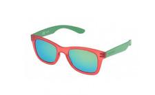 New Police Unisex Sunglasses S1944 Z75V Red/Green w/Green Mirror Polarized 50mm
