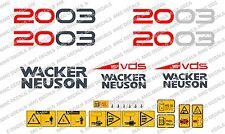 Neuson 2003 ESCAVATORE CON Decalcomanie Adesivo Set