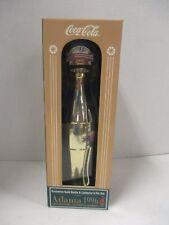 (NEW) Coca Cola brand Commemorative gold contour bottle and pin set Atlanta 1996