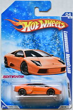 HOT WHEELS 2009 DREAM GARAGE LAMBORGHINI MURCIELAGO #04/10 ORANGE SNOW CARD W+