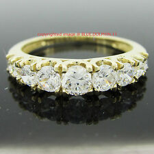 Real Solid 9ct Yellow Gold Engagement Wedding Anniversary Ring Simulated Diamond