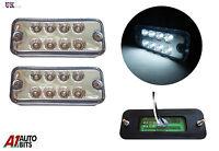 2 PCS 12V 24V LED FRONT SIDE REAR WHITE MARKER LIGHTS LAMPS TRUCK LORRY TRAILER