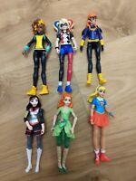 DC Super Hero Girls 6x Figure Bundle 2015 Mattel Batgirl Harley Quinn & More
