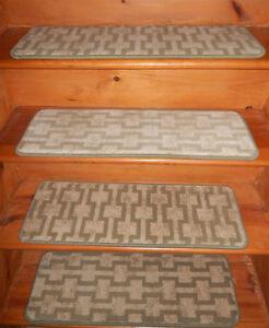13  Step = 10'' x 30'' + 1 Landing 30'' x 40''  Carpet Stair Treads Wool Woven.