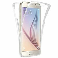 TPU Soft Clear Gel Front and Back Case Cover For Samsung Galaxy S6 S7 Edge S8 +