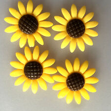 10pcs yellow 24mm Daisy Resin Flatback Cabochon ScrapbookIng for phone/craft
