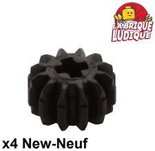 Lego technic - 4x engrenage pignon gear 12 thoot dents noir/black 32270 NEUF
