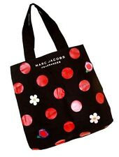 MARC JACOBS DAISY DOT OH LOLA! CANVAS SHOPPER TOTE BAG